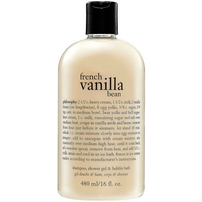 Philosophy - French Vanilla Bean Shampoo Shower Gel & Bubble Bath